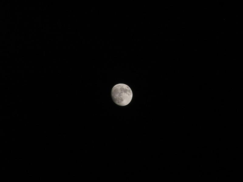 Moon taken by S5500 on 370mm. with 4megapixel sensor  : voller Bildausschnitt