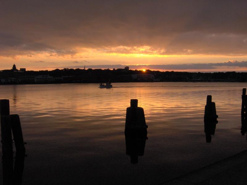 Sonnenuntergang im Flensburger Hafen