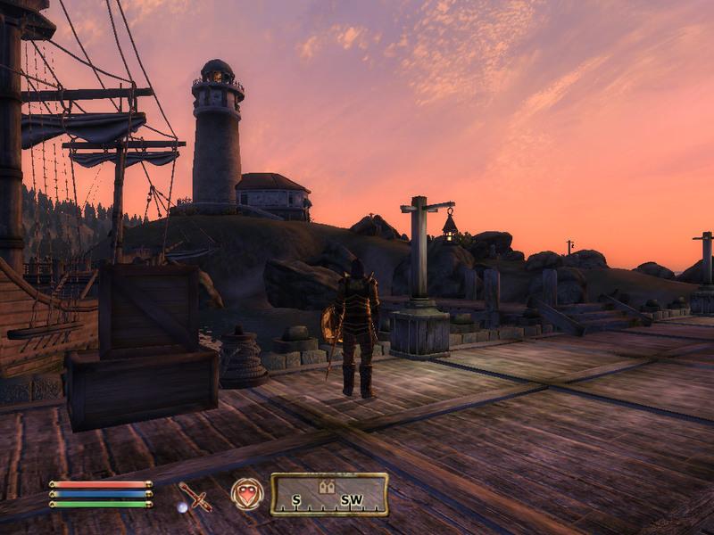 Der Leuchtturm von Anvil am Abend, einer der schönsten Orte in der ganzen Spielewelt (1024x768)