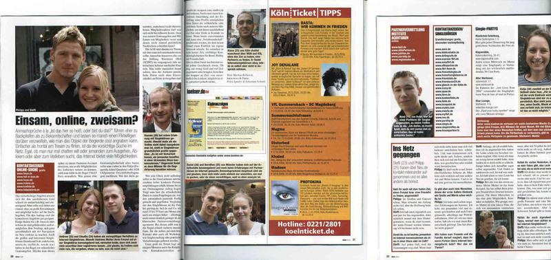 Erwähnung von irclove.de in der Kölner Illustrierten, Ausgabe Sept. 2006