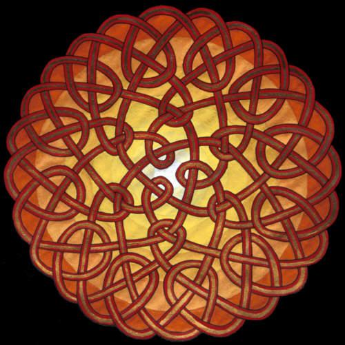 Keltisches Ornament (Tuschezeichnung)