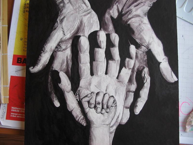 Die fertigen Hände