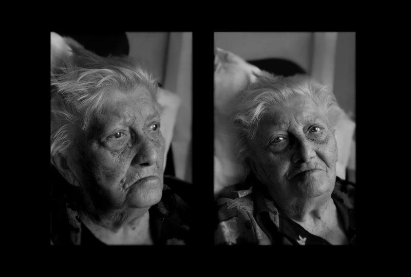 Doppel Portrait Im Alter