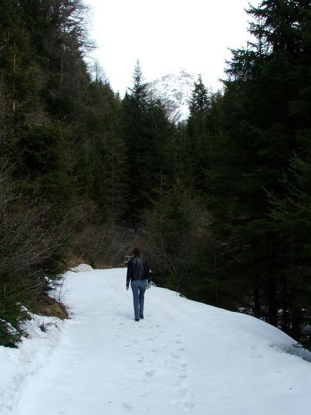 3. Langsam gibt es auch Schnee auf den Wegen