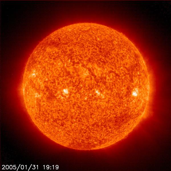 Sonne (Aufnahme des SOHO Observatoriums mit Filtereinsatz)