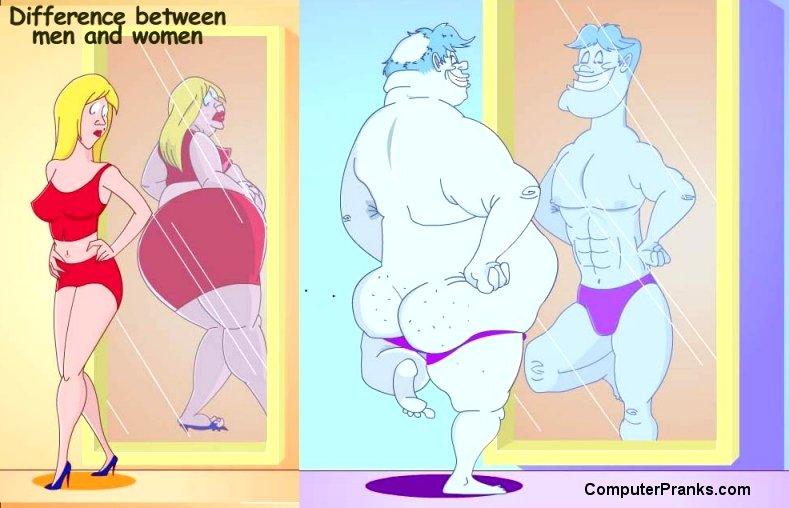 ein Unterschied zwischen Frau und Mann