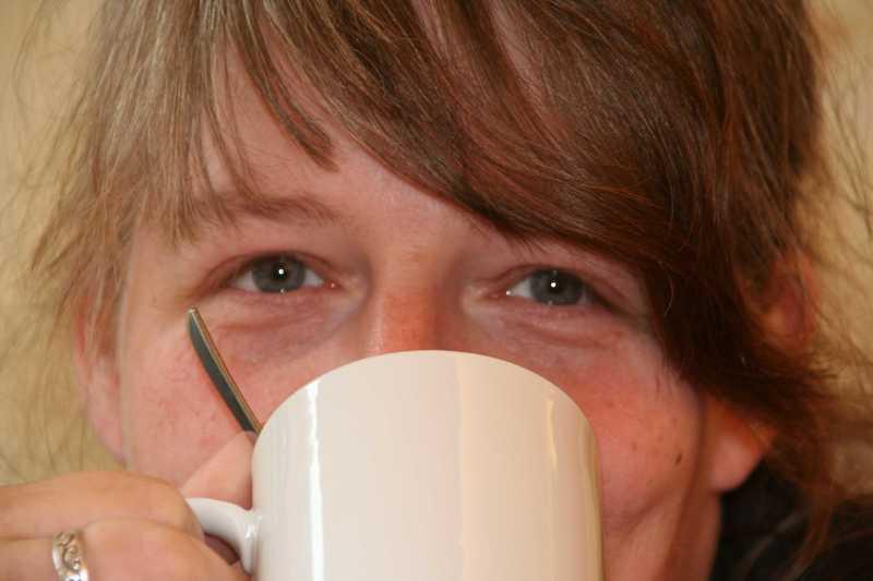 genußvoll Kaffee trinken :)