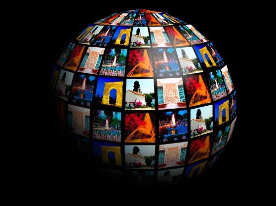 meine  fotos auf 3D globe