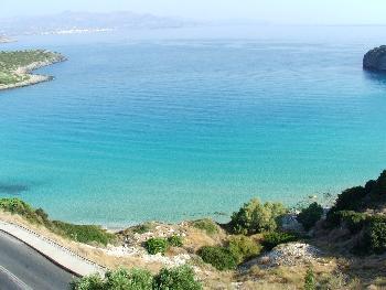 Blick aus meinem Hotelzimmer (Istron-Bucht) ohne Wind