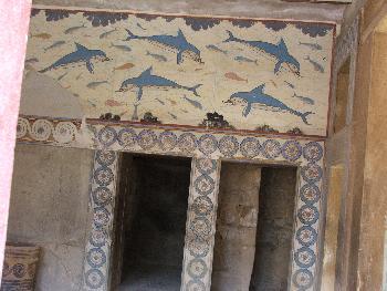 Typische minoische Wandmalerei (Knossos)