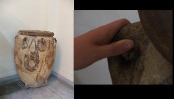 Antiker Behälter aus der minoischen Zeit (Archäologisches Museum Heraklion)