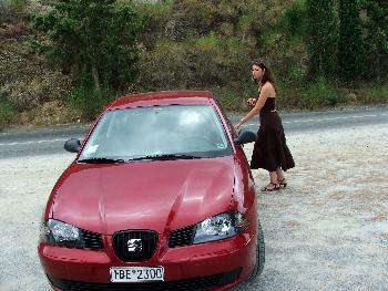 owlet am Auto (11.09.2005)