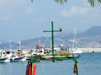 Ein seltener Gast (Hafen von Sitia)