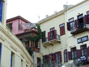 Aufeinandergebaut - Häuser in Chania
