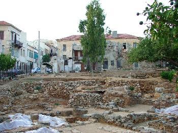 Archäologische Ausgrabungsstätte mitten in Chania