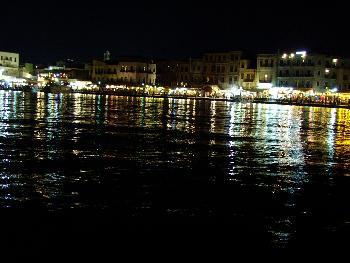 Chanias Promenade bei Nacht