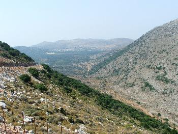 Lasithia-Plateau aus der Höhe