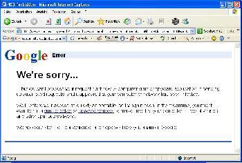 Google Virus! Oh my God! Bild ist nicht gefaked!