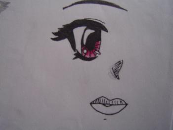 Gesicht mit einem Auge (Mangaartig..)