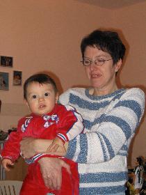 meine Tante (Papa) mit meinem kleinen Groß-Cousin Alessandro