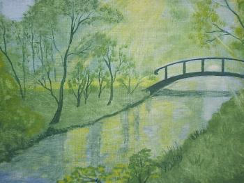 Landschaft (Ölfarbe)