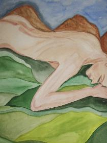 Schlafende (Aquarell)