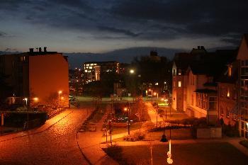 Blick aus meinem Fenster 31.04.2006 (neue Whg, kurz vor 22:00 Uhr)