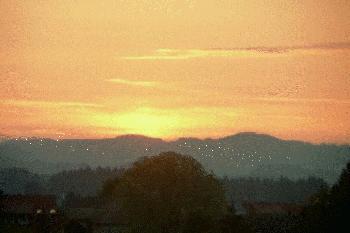 Sonnenaufgang im Allgäu ( Animation )