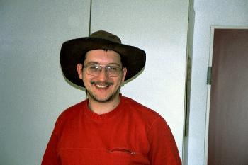 2005 Okt. mit Hut (genialer Regenschutz)