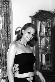 Ein Lächeln in schwarzweiß