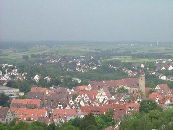 Blick über Leonberg ...