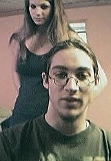 Claas und ich in unserem Keller