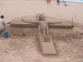 Jesus am Strand