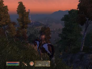 Blick auf die Imperiale Stadt aus 10km. Entfernung am Abend (1024x768)