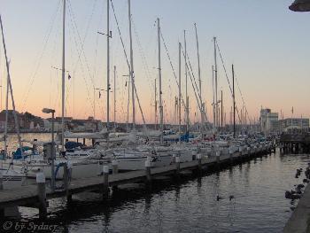 Segelboote im Hafen von Flensburg
