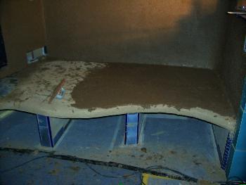 Grundofen mit beheizbarer Sitzbank, Grundputze 2