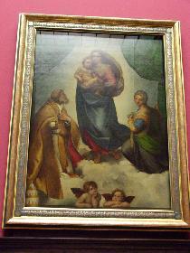 Sixtinische Madonna von Raffael, Gemäldegalerie alter Meister, Zwinger