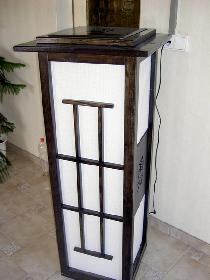 PavelTschepka: Lampe elektrisch ebenholzfarben 1,3m