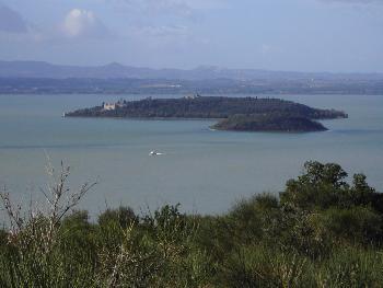 Der Trasimeno See in Umbrien