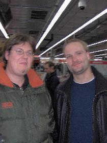 Mein Cousin und ich in Flensburg am shoppen