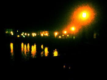 Ein See in Schwerin (ging ne besser im finstern)