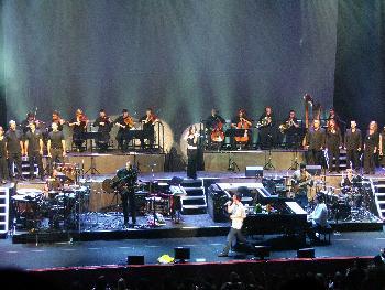 Bühne während der Performance