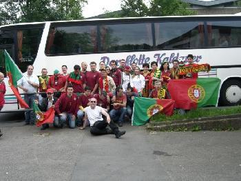 Belgien-Portugiesen nach Brüssel.( 1 : 2) für Portugal.