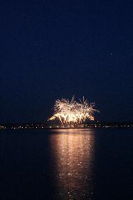 Feuerwerk in Glücksburg - von der dänischen Seite