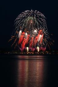 Feuerwerk in Glücksburg ll - von der dänischen Seite