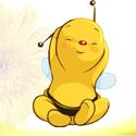 Wer schon immer wissen wollte wie ein Honigbienchen ausschaut*fg
