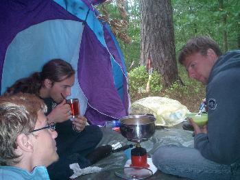 #20 Zurück im Zelt erstmal Essen machen