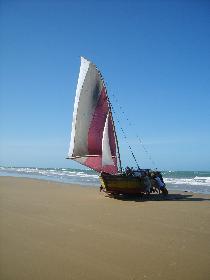 Boot aus dem Wasser holen per Handarbeit