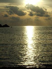 Sonnenuntergang an der Golden Bay