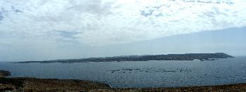 Blick auf Maltas Nordküste von Comino aus